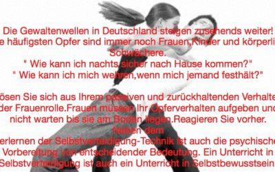 Frauen Selbstverteidigung am 04. März in der KSS
