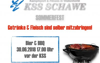 Schon mal vormerken: KSS-Sommerfest am 30. Juni 2018
