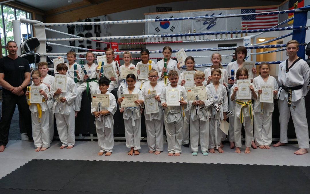 Ergebnis der Taekwon Do Gürtelprüfung