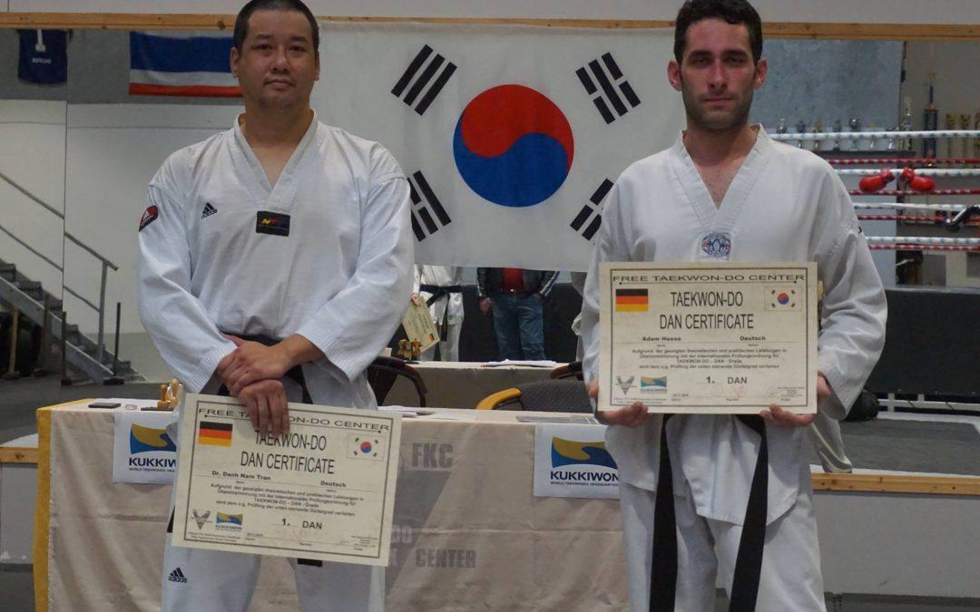 SCHWARZER Gürtel für KSS Taekwondo Ka`s