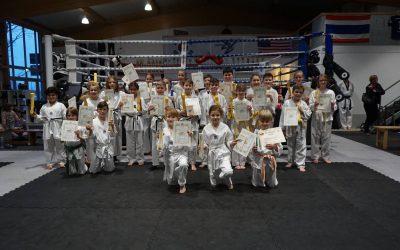 Taekwondo – und Kickbox – Prüfung erfolgreich bestanden