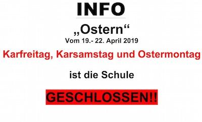 KSS ist Ostern geschlossen!