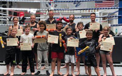 Kickboxen Gürtelprüfung in der KSS
