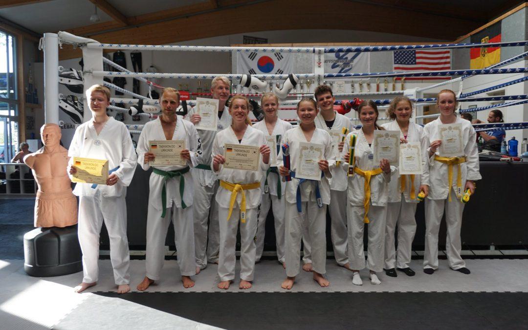 Taekwondo Sportler mit sehr guten Leistungen