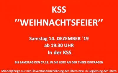 KSS-Weihnachtsfeier